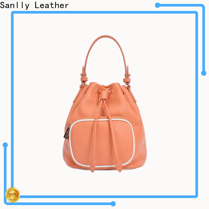 Sanlly Custom leather drawstring backpack Supply for shopping