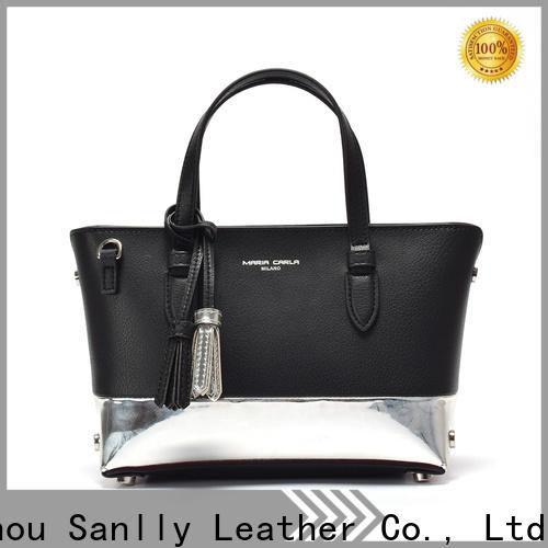 Sanlly New soft leather handbags on sale bulk production for women