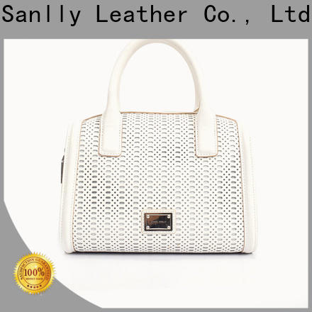 Sanlly cow large black leather purse free sample
