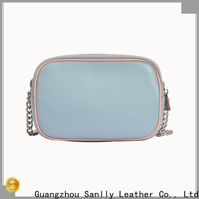 Sanlly leather leather crossbody bag for business for shopping