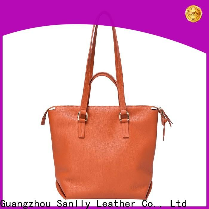 Sanlly business cool leather purses free sample for shopping