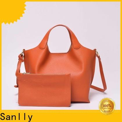 Sanlly high-quality women's large leather handbags free sample