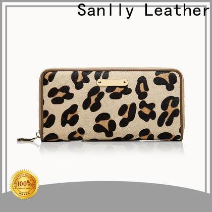Sanlly zip cute black wallets OEM for shopping