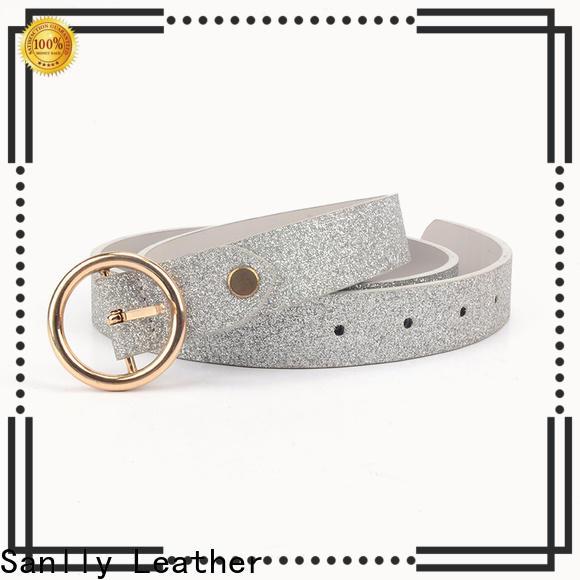 high-quality ladies skinny leather belts fashion company