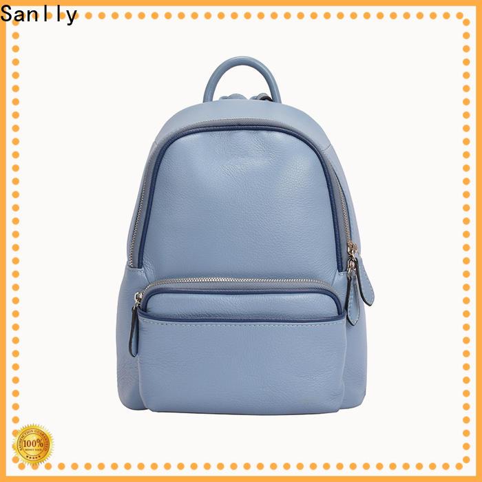 Sanlly ladys designer leather backpacks supplier for modern women