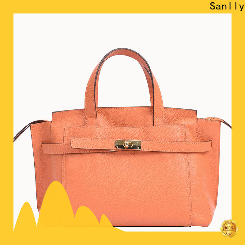 Custom genuine leather totes cool ODM for shopping