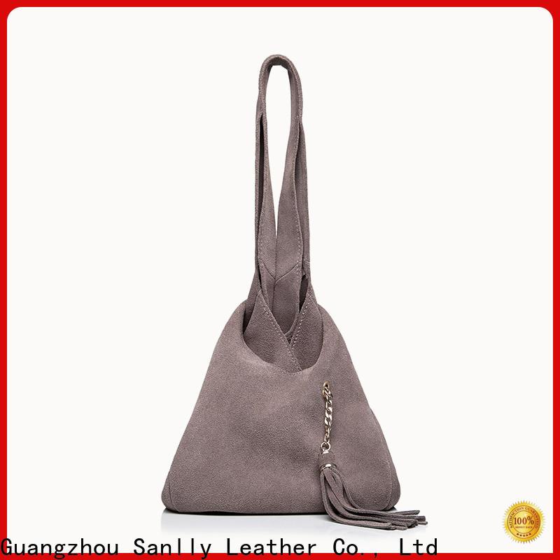 Sanlly leather white designer handbag manufacturers for women