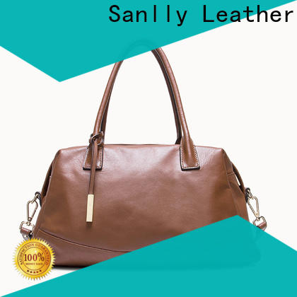 Sanlly red vintage leather satchel manufacturers for shopping