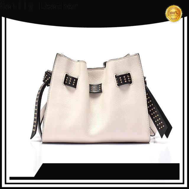 Sanlly classic black leather shoulder handbag manufacturers for girls
