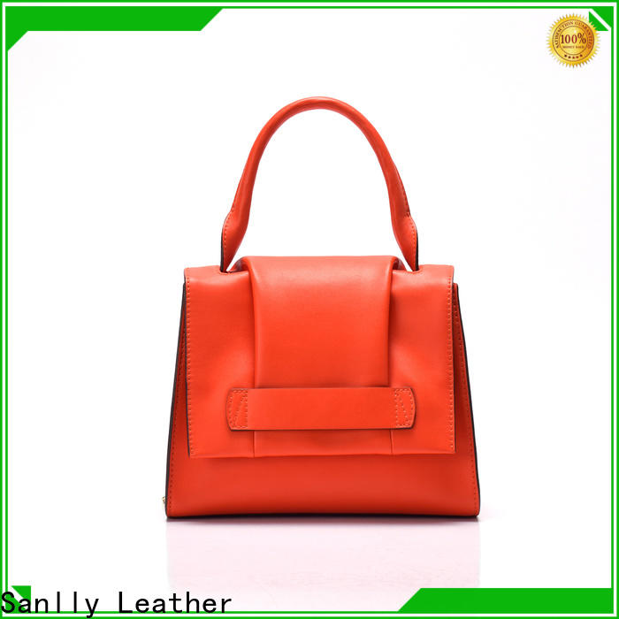 Sanlly on-sale all leather handbags Supply for girls