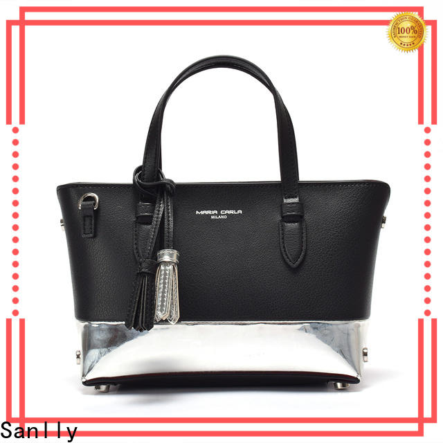 Best small black leather handbag customized factory for women