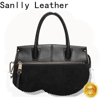 Sanlly New leather satchel for ladies for business for shopping