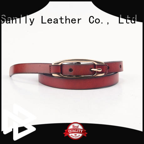 Sanlly solid mesh expensive mens leather belts free sample for shopping
