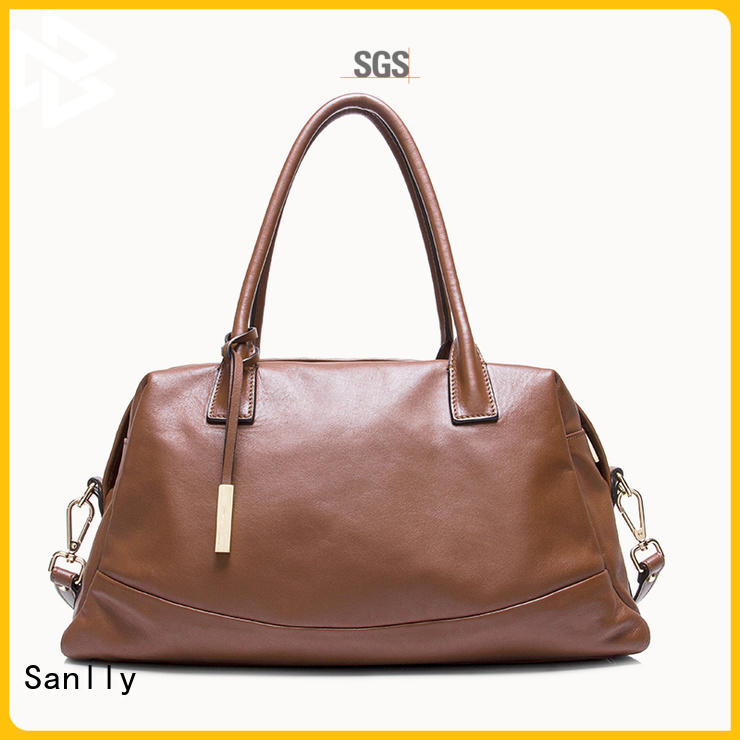 Sanlly durable quilted leather handbag ODM for women