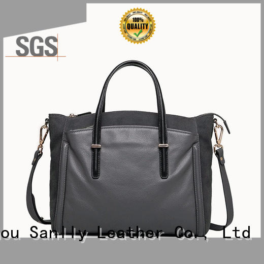 Sanlly handbag womens leather tote bag free sample for shopping