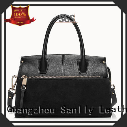 Sanlly work real leather handbags on sale free sample for girls
