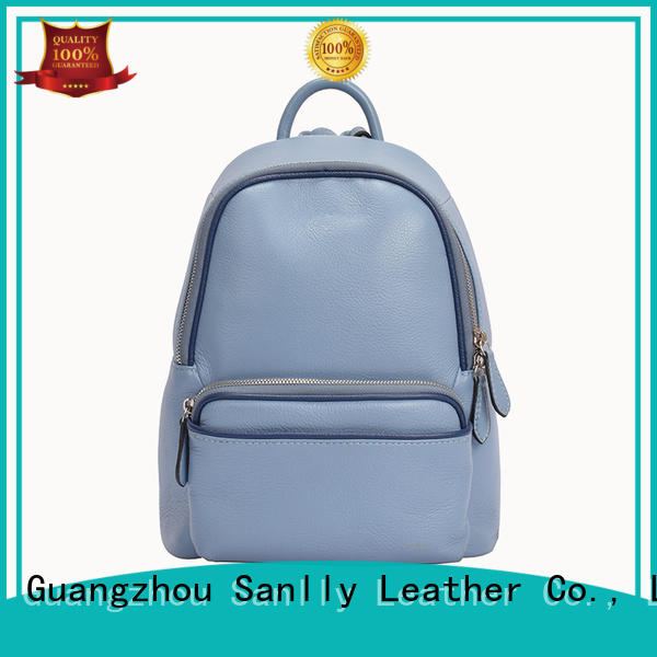 Sanlly quality leather backpack bags for womens ODM for modern women