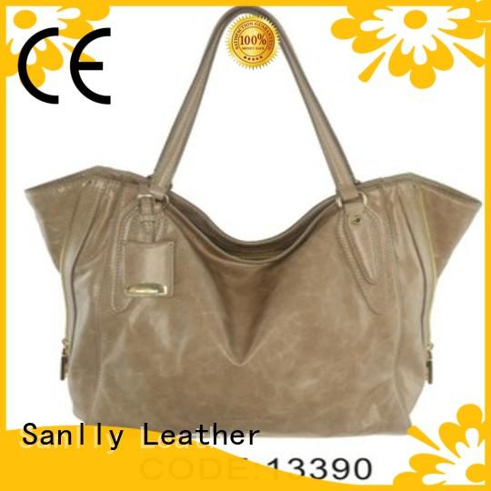 Sanlly custom ladies leather handbags winter suede for fashion
