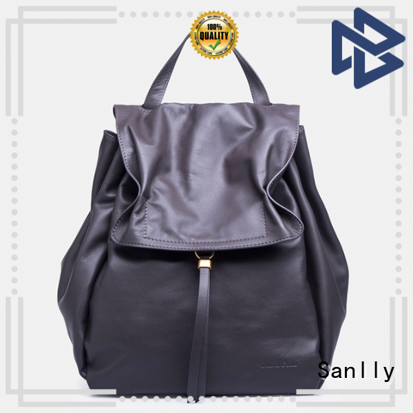 Sanlly Top small black leather handbag for business for summer