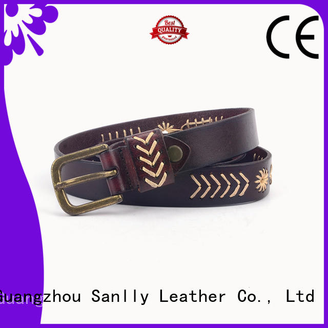 Sanlly Breathable branded belts online ODM for girls