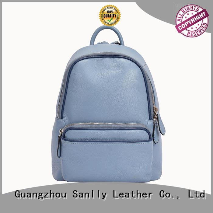 Sanlly design womens leather backpacks OEM for girls
