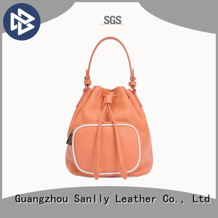 Custom brown leather tote handbag cool ODM for shopping