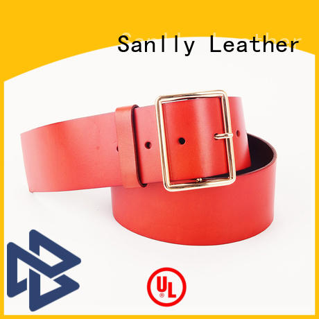 Sanlly latest patent leather belt mens free sample for shopping