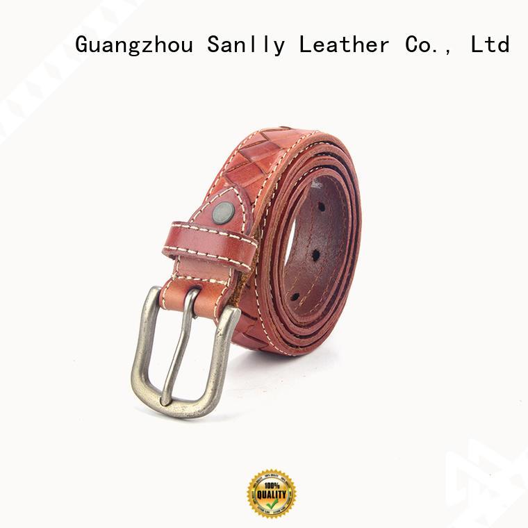 Sanlly solid mesh belt for men online shopping OEM for girls