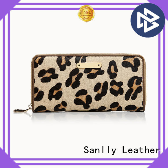Sanlly funky womens leather purse wallet OEM for women