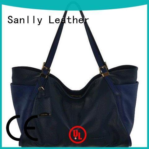 Sanlly leather ladies leather handbags stylish for women