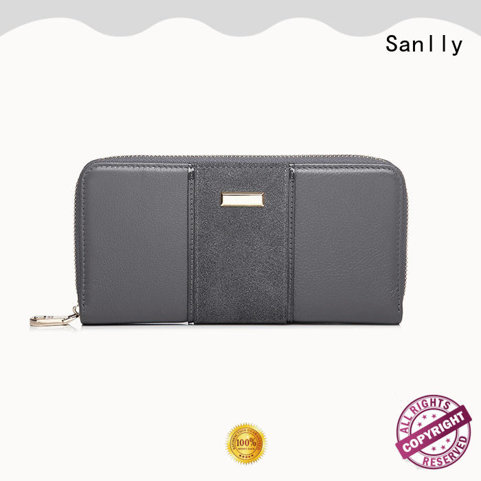 Sanlly on-sale zip up wallet womens customization for shopping