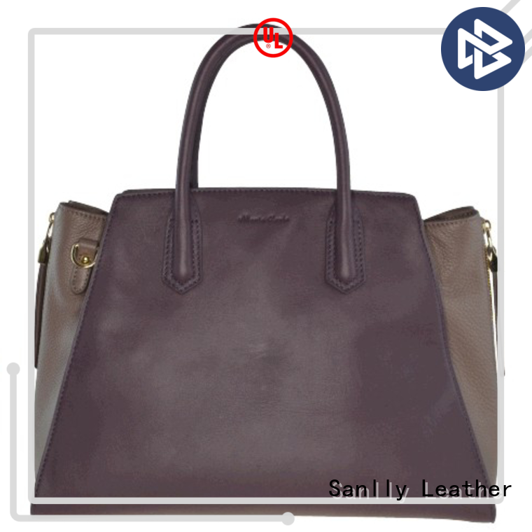 Sanlly high quality ladies leather handbags leopard haircalf design for fashion