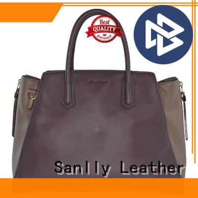 custom ladies leather handbags tote leopard haircalf design for summer
