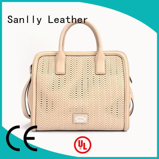 Sanlly work leather ladies bag price customization for girls