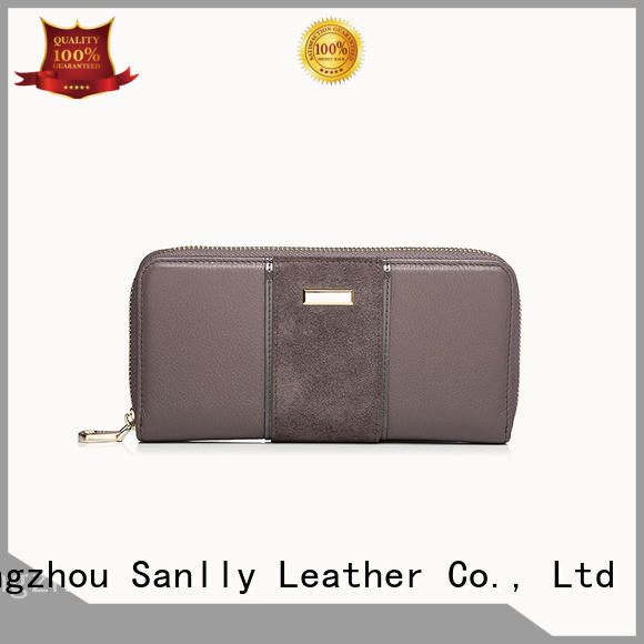 Sanlly funky ladies bifold leather wallet ODM for women