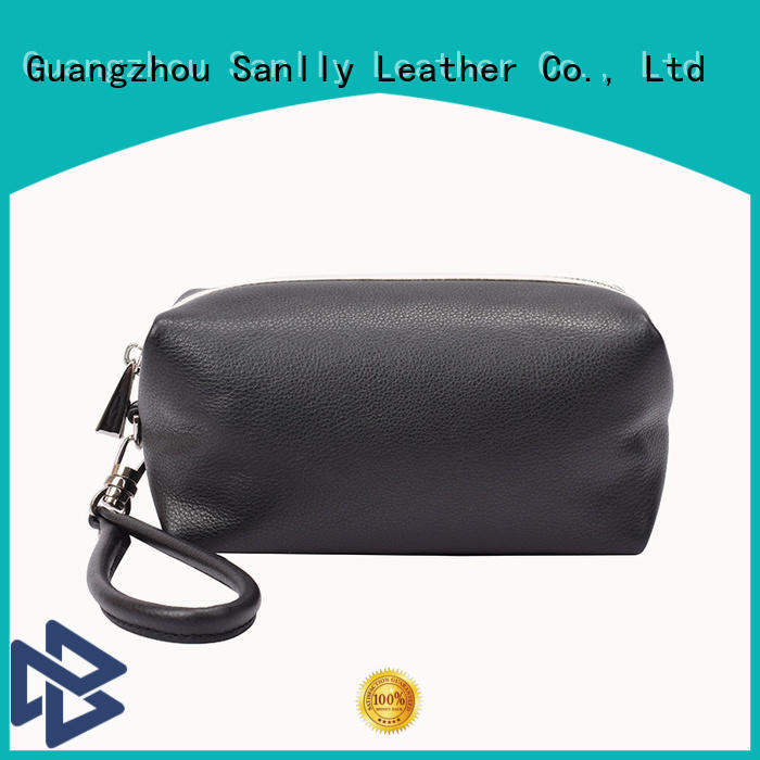 Sanlly high-quality women's leather wristlet wallet OEM for shopping