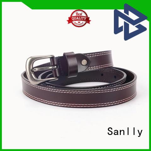 Sanlly cow men's leather belts ODM for men