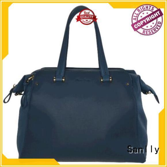 Sanlly tote small brown handbag winter suede for fashion