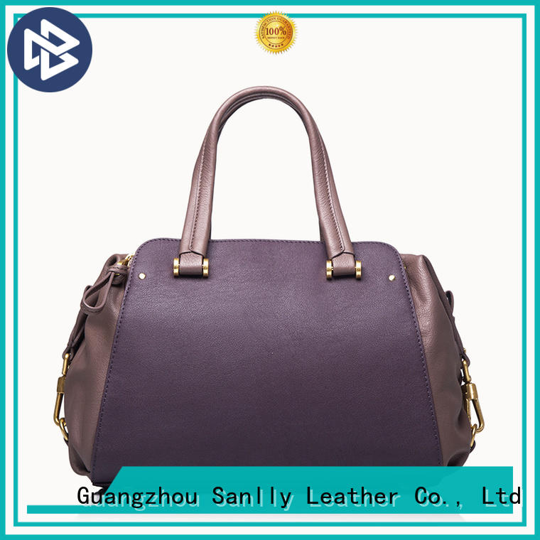 Sanlly leather pure leather bags for ladies free sample for girls