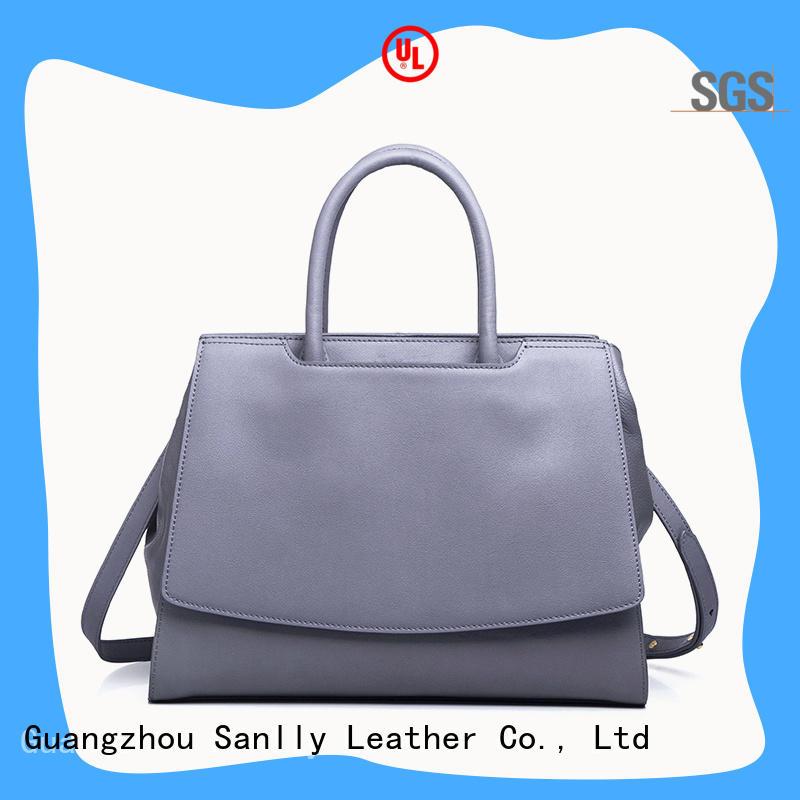 Sanlly leopard women's leather handbags OEM for girls