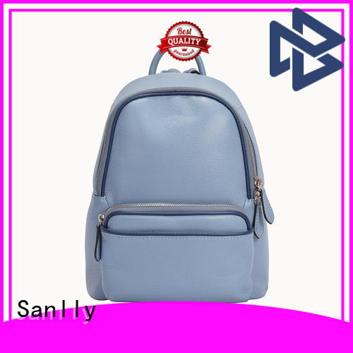 Sanlly real womens leather backpack buy now for shopping