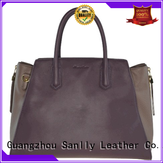 Sanlly tote ladies leather handbags winter suede for winter