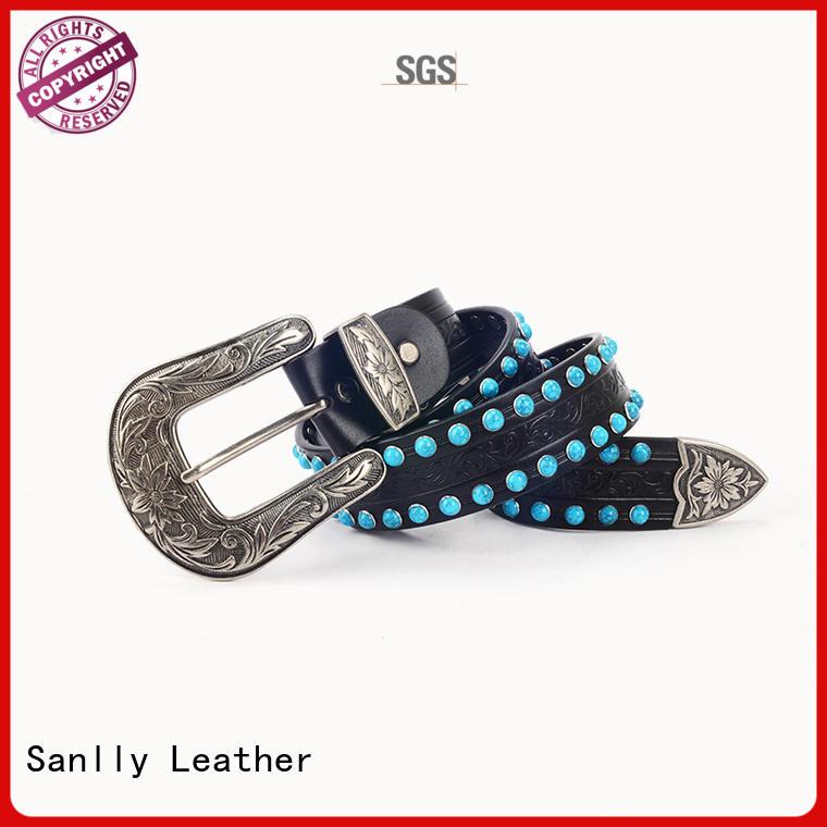 Sanlly High-quality ladies black leather belt supplier