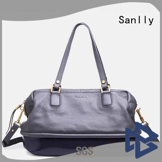 Sanlly custom ladies leather handbags winter suede for women