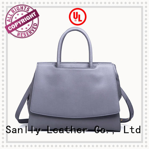 Sanlly brown women's genuine leather handbags buy now for shopping