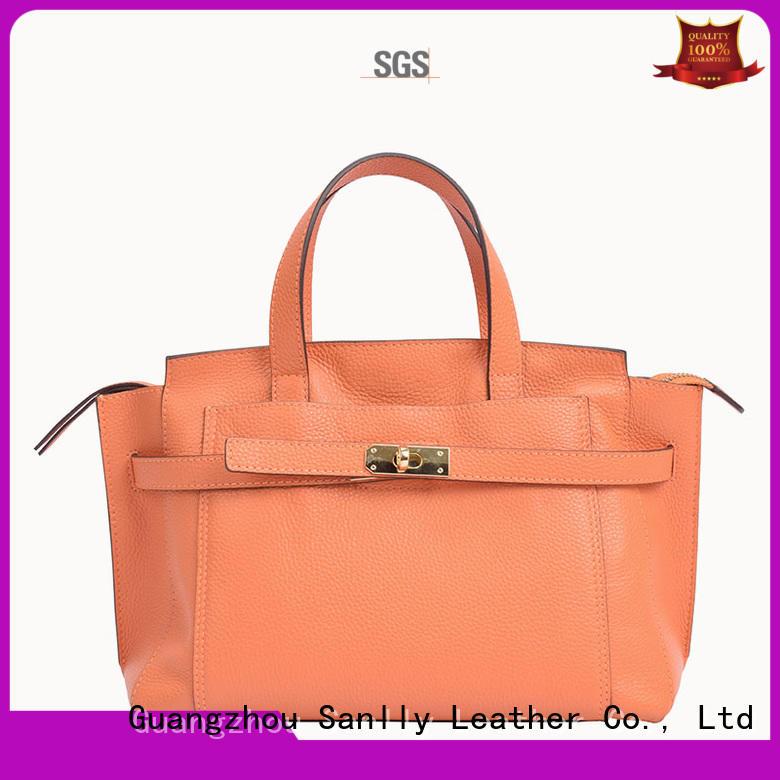 Sanlly quality large black leather handbag supplier for modern women