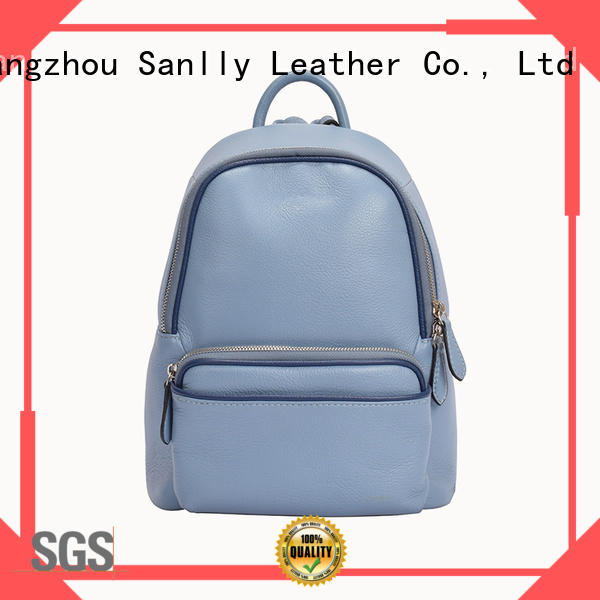 Sanlly quality ladies leather backpack bags get quote for shopping