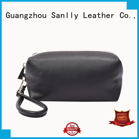 Sanlly latest leather wristlet wallet bags for shopping