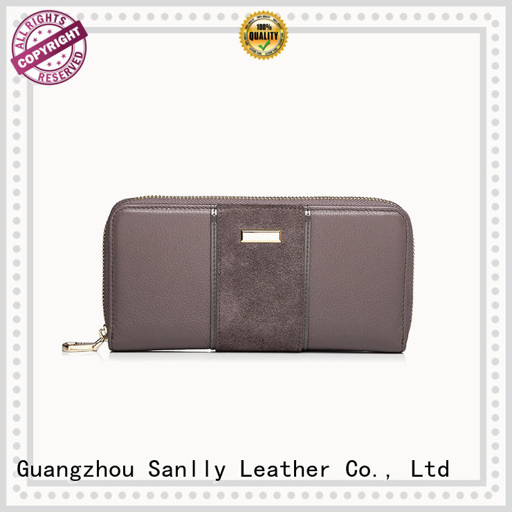 Sanlly classic long ladies wallet bulk production for shopping