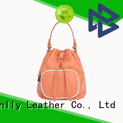 Sanlly solid mesh soft leather tote bag ODM for single shoulder
